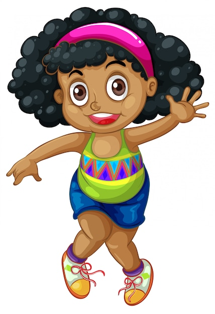 An african girl character Free Vector