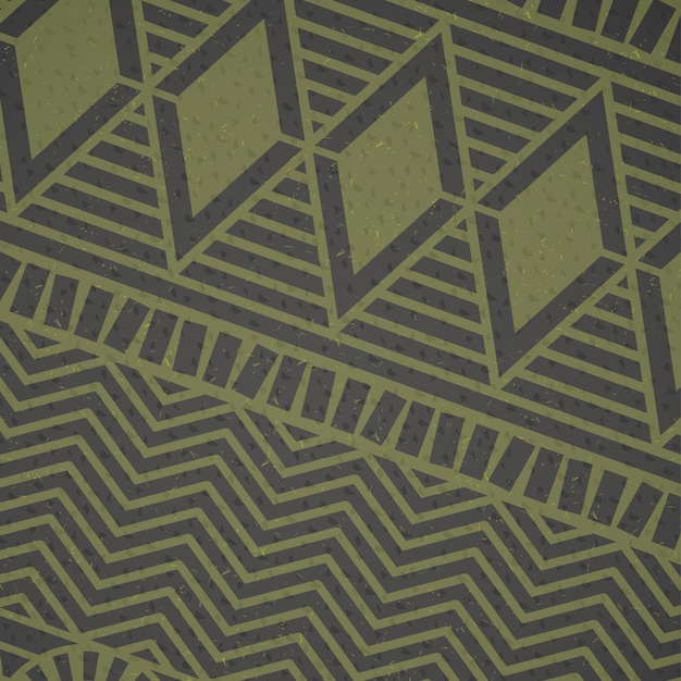 African green pattern Free Vector