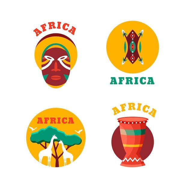 Набор шаблонов африканских логотипов Бесплатные векторы