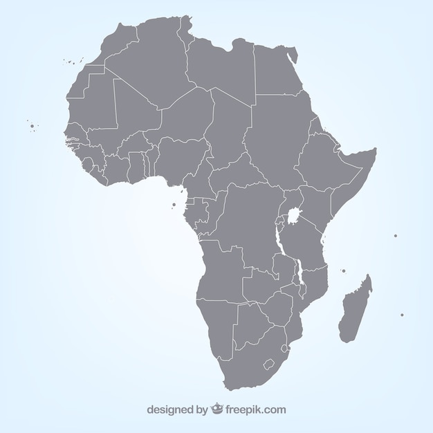 African map vector Vector | Free Download