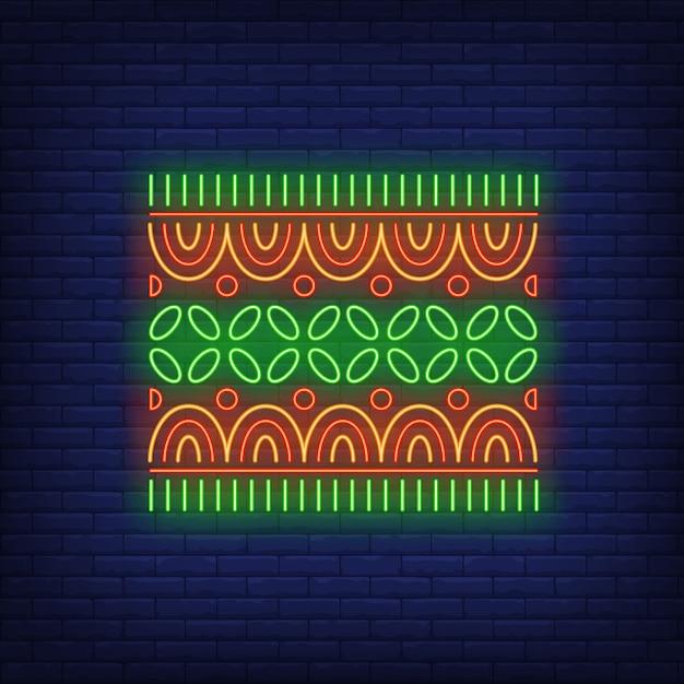 African motif neon sign Free Vector