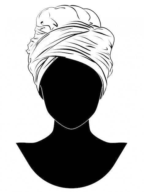 African style turban Premium Vector
