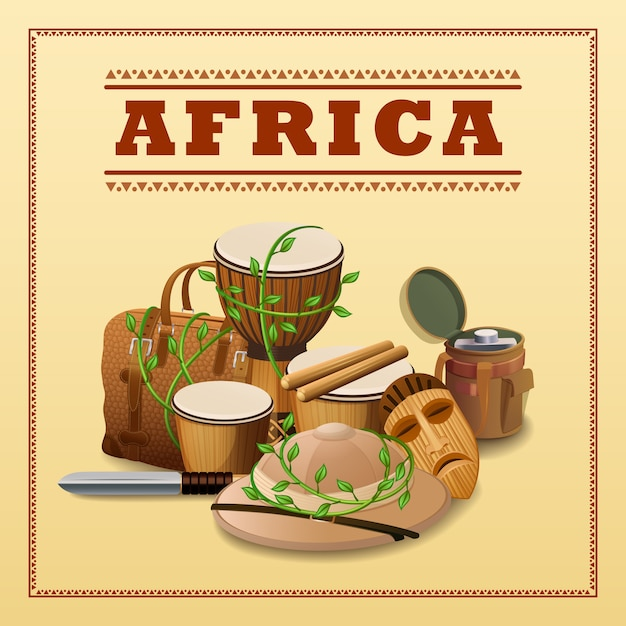 African travel background Free Vector