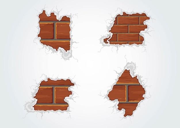 Aged Bricks building concrete construction\ vector