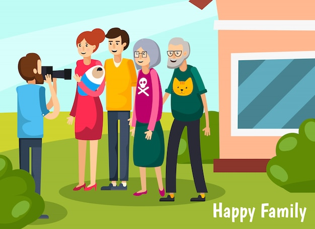 Aged elderly people flat composition Free Vector