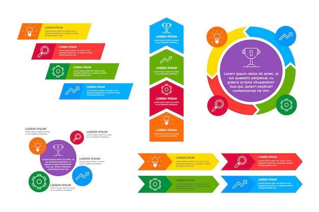 Agile infographic template Free Vector