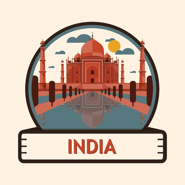 Agra city badge Premium Vector