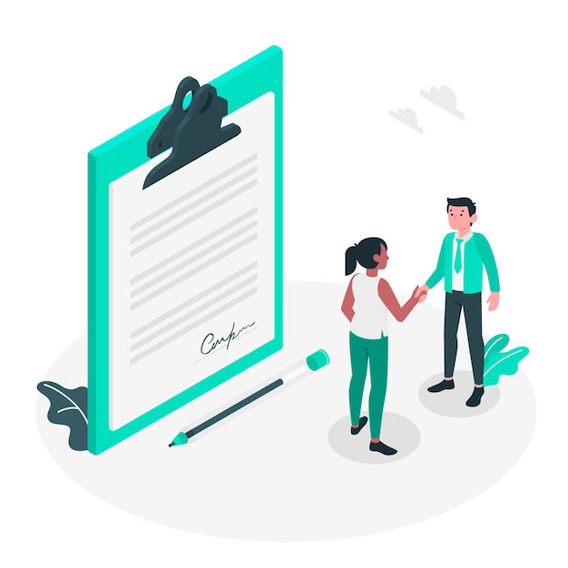 Agreement concept illustration Free Vector