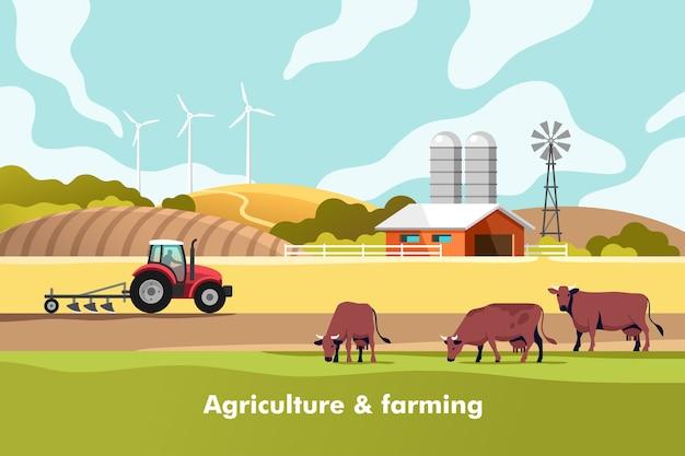 農業と農業 Premiumベクター