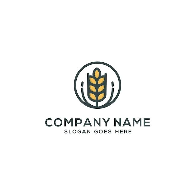 agriculture logo template design vector premium download