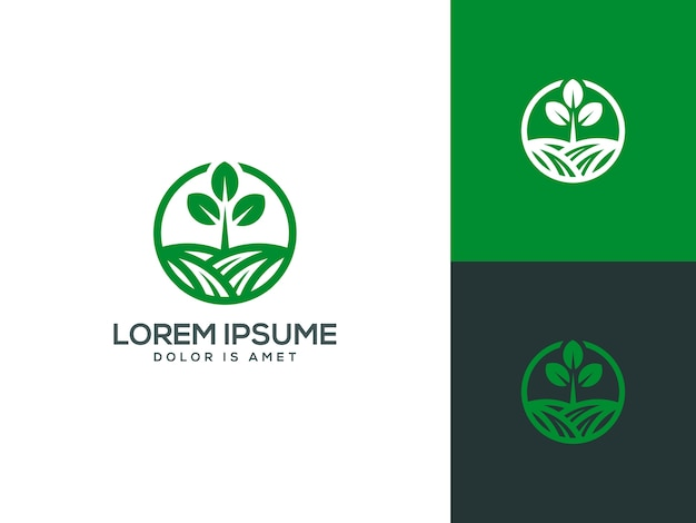 Agriculture logo template vector illustration Premium Vector