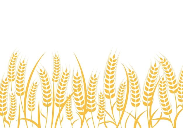 Agriculture wheat logo template Premium Vector