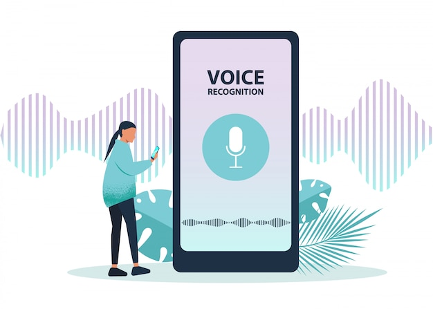 Ai Voice Assistant Speech Driven Modern User Interface Business Networks Concept Premium Vector
