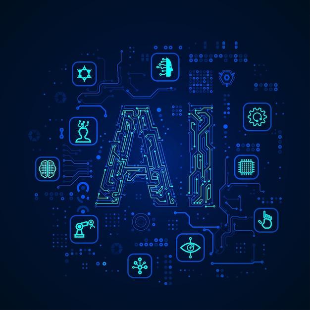 Ai技術 Premiumベクター