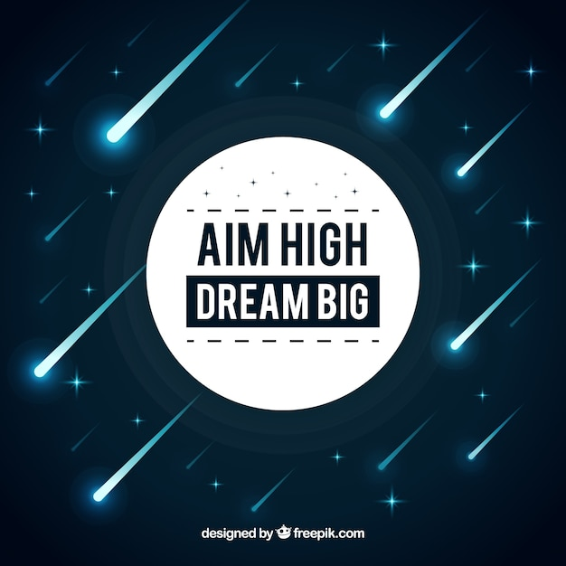 Aim high dream big Free Vector