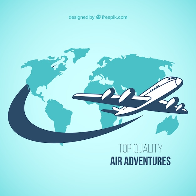 Air adventures Free Vector