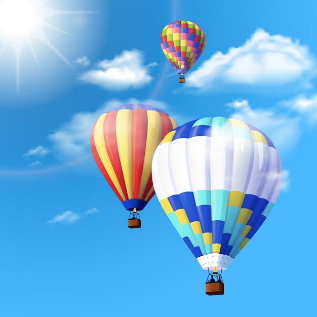 Air balloon background Free Vector