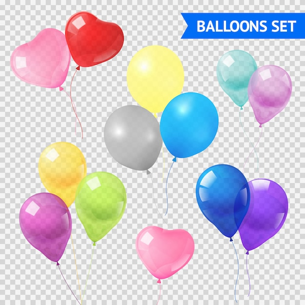 Air balloons set Free Vector