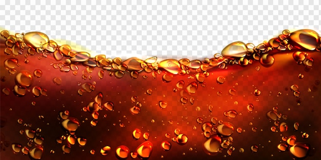 Air bubbles cola, soda drink, beer background Free Vector