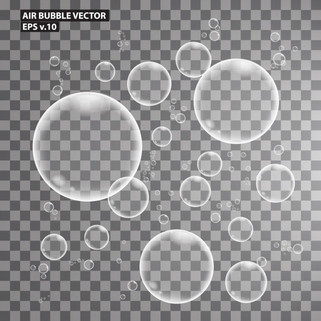 Air Bubbles Collection Free Vector
