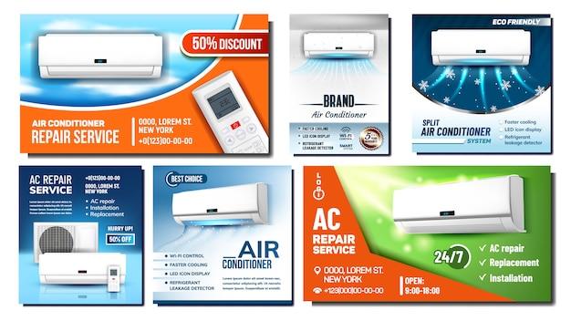 Air conditioner advertising banner | Premium Vector