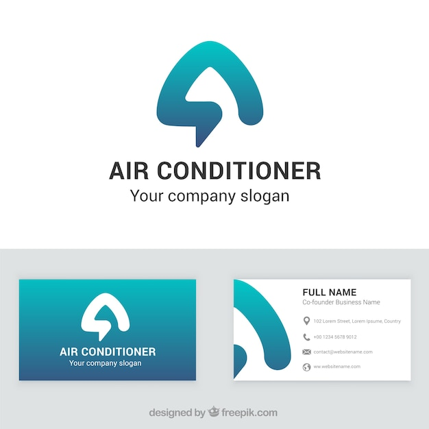Air conditioner company business card vector free download air conditioner company business card free vector reheart Gallery