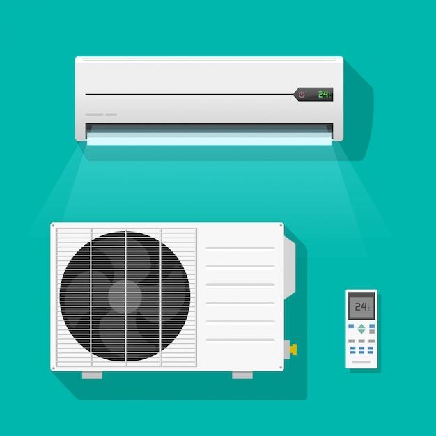 Air conditioner units vector set isolated Premium Vector