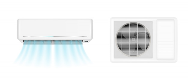 Air conditioner with cold wind Free Vector