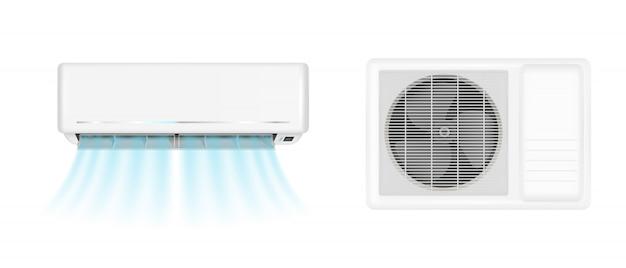 Condizionatore d'aria con vento freddo Vettore gratuito