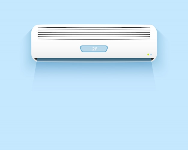 Air conditioning, cooling breeze Premium Vector