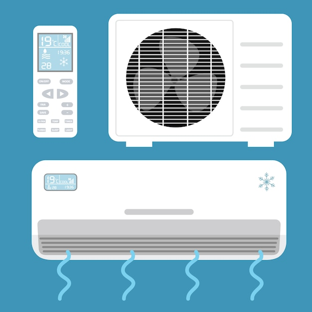 Air conditioning elements Free Vector