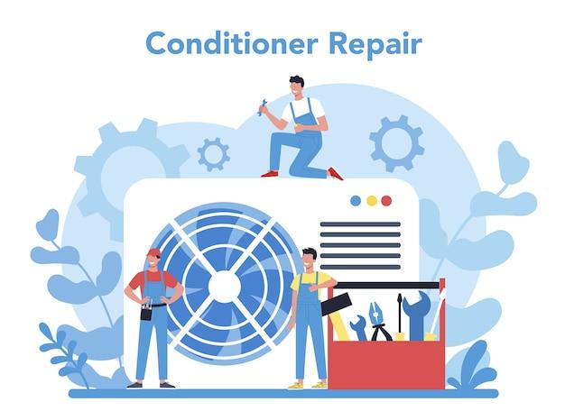Концепция услуг по ремонту и установке кондиционеров Premium векторы