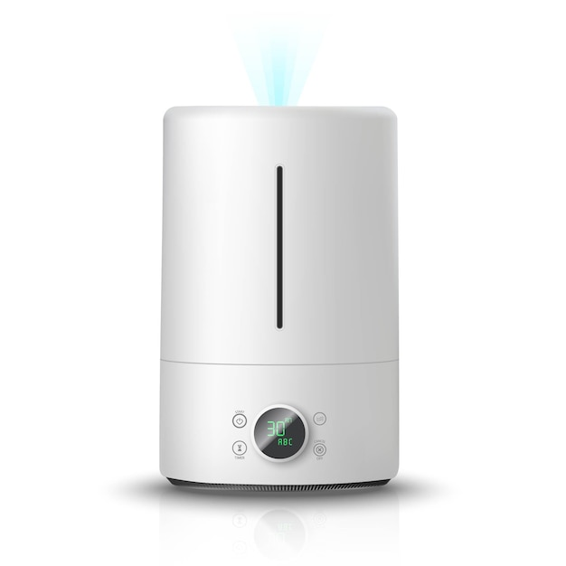 Air humidifier,  on white background illustration icon. air cleaning and humidifying  devise for the house. Premium Vector