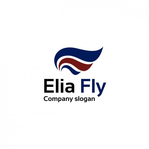 Air lines company logo template Free Vector