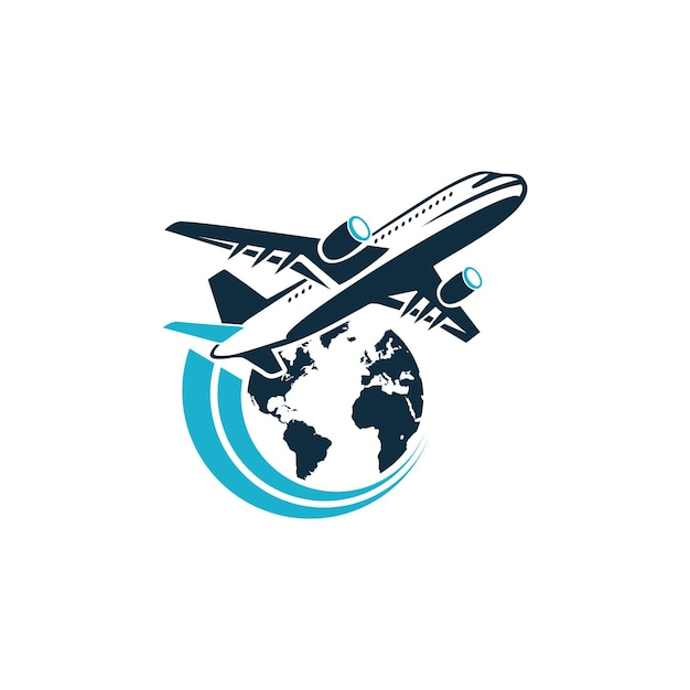 Air Plane Jet Travel Logo Design Premium Vector