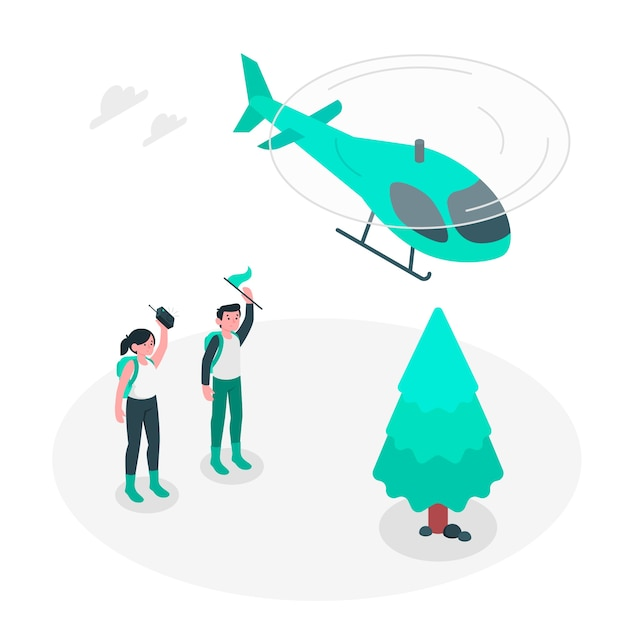 Air support concept illustration Free Vector