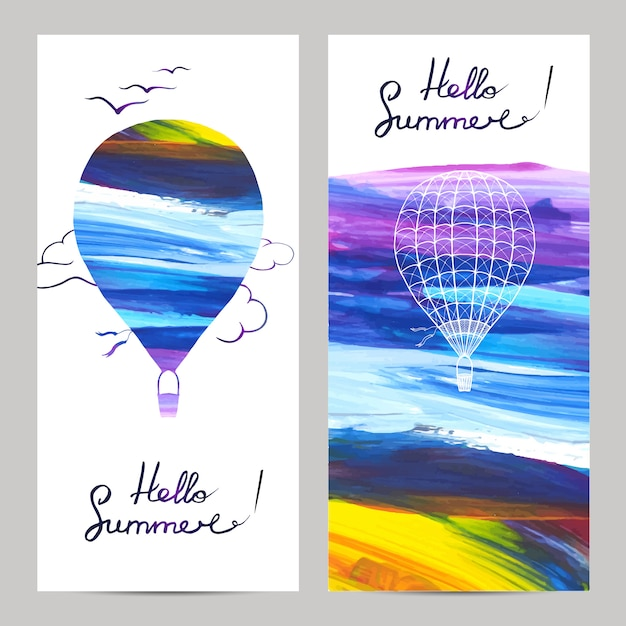 Air travel banners Free Vector