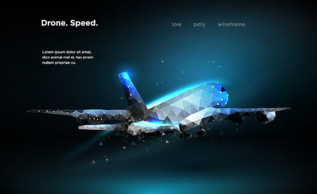 Airliner aircraft speed Premium Vector