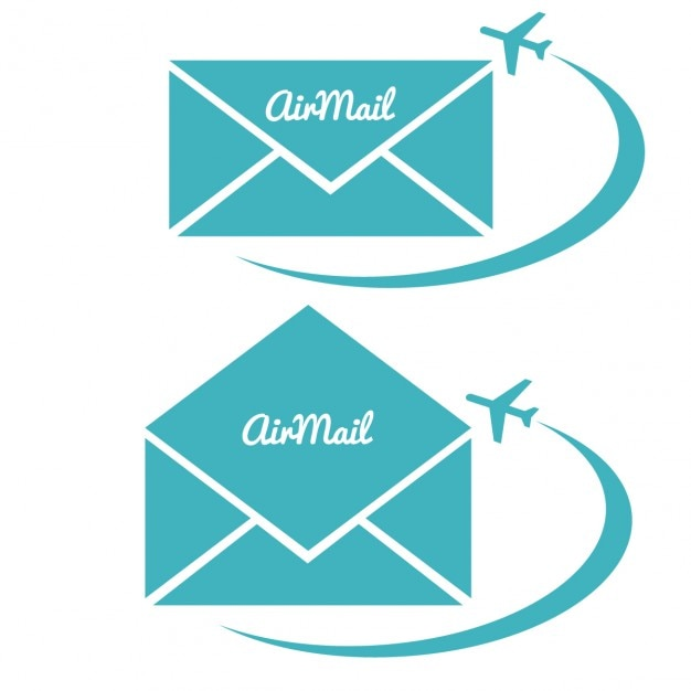 Airmail envelope collection Free Vector