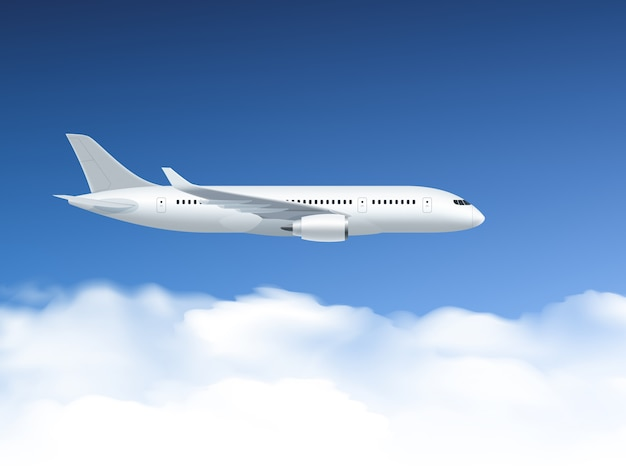 Airplane in air poster Free Vector
