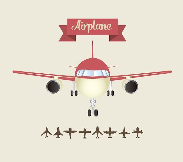 Airplane icons Premium Vector