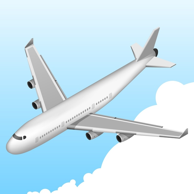 Free Vector Airplane Isometric Icon
