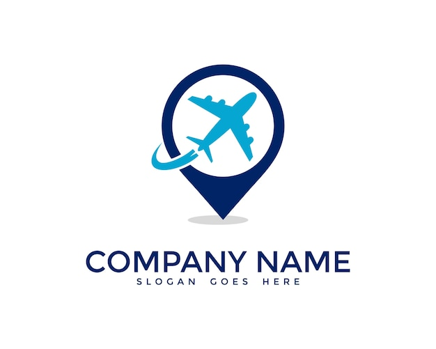 airplane logo design vector premium download