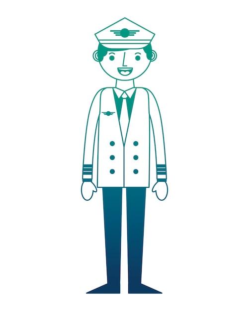 Airplane pilot avatar character vector illustration design Premium Vector