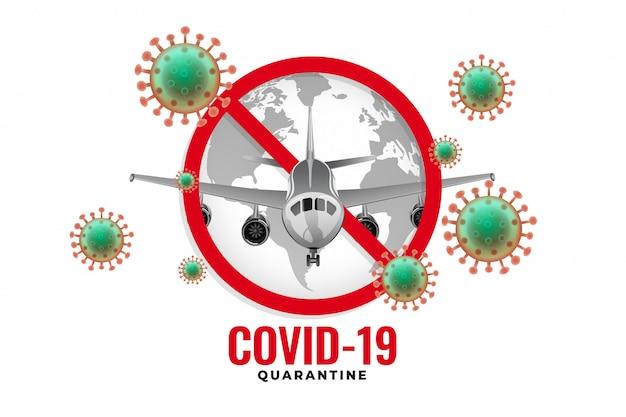 コロナウイルスの発生により飛行機の飛行が停止 無料ベクター