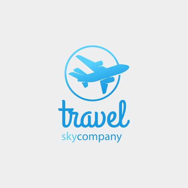 Airplane or travel logo Premium Vector