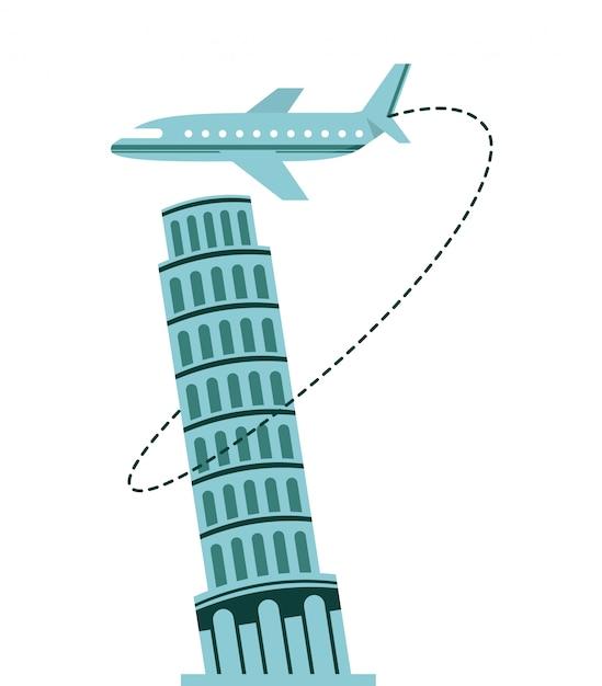 Airplane travel Premium Vector