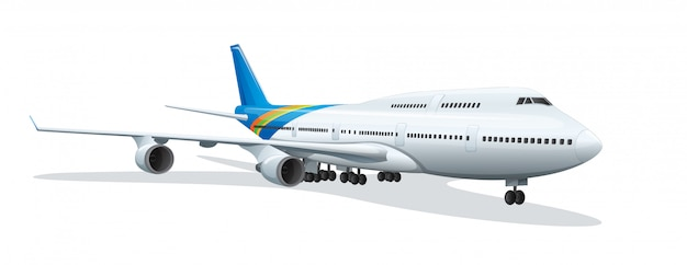 An airplane Free Vector