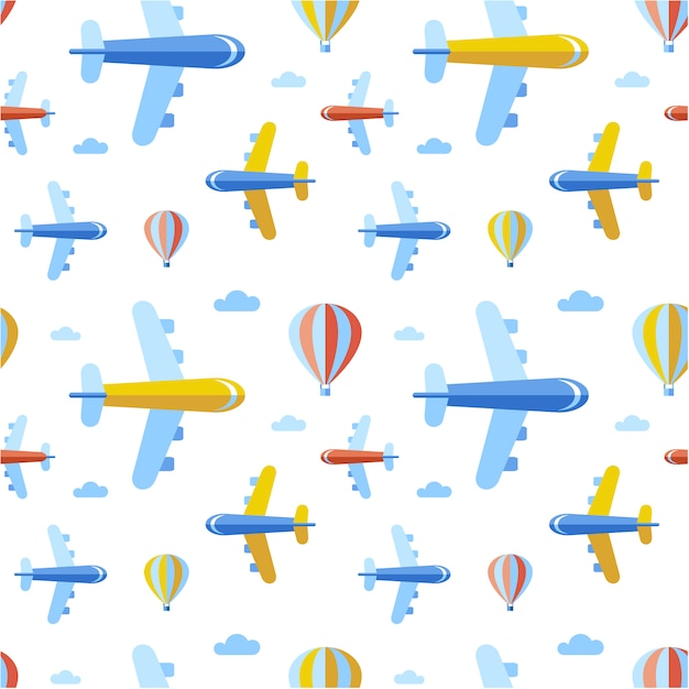 Airplanes pattern background