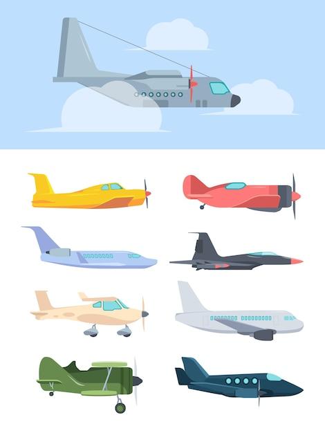 Стильный набор самолетов Premium векторы